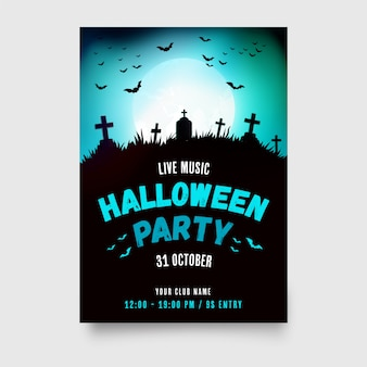 Halloween party poster with modern design