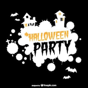 Halloween party плакат с силуэтами