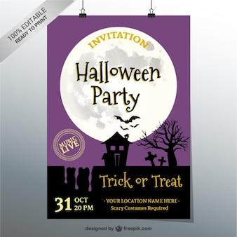 Halloween party приглашение вектор