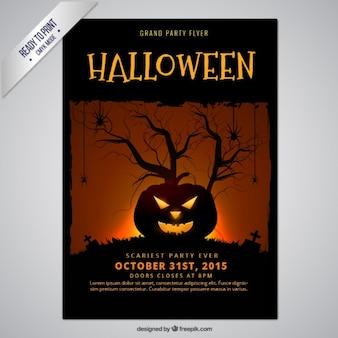 Хэллоуин тыква плакат
