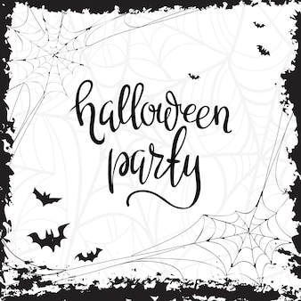 Halloween party template typography elements.