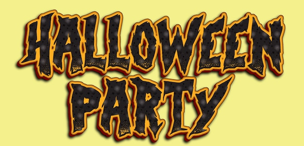 Halloween party text design