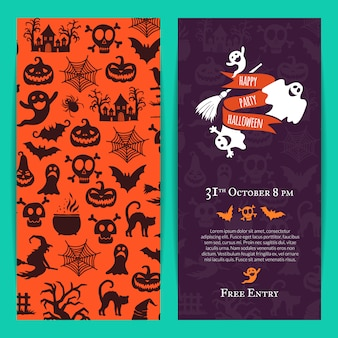 Halloween party thin invitation card