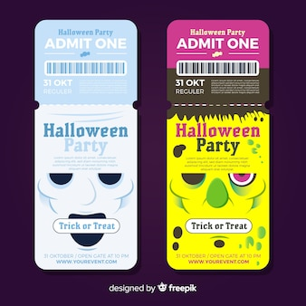 Halloween party tickets collection