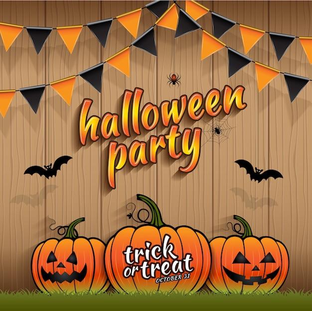 Halloween party trick or treat pumpkins