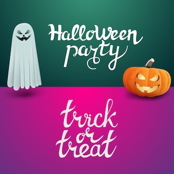 Halloween party and trick or treat