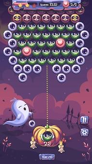 Хэллоуин партии вектор игровое поле с призраком