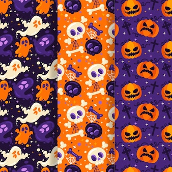 Halloween pattern collection cocnept
