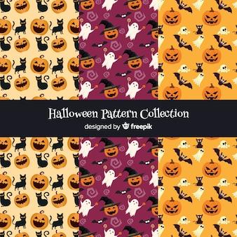 Коллекция хэллоуина в плоском дизайне