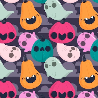 Halloween pattern concept