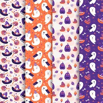 フラットなデザインのハロウィーンのパターン