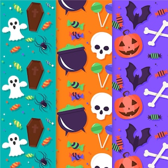 Halloween patterns set