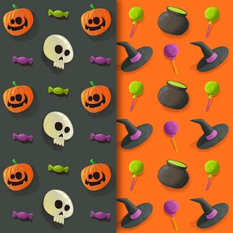 Halloween patterns watercolor design