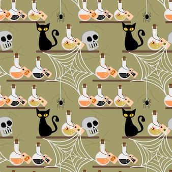 Хэллоуин яд бесшовные модели