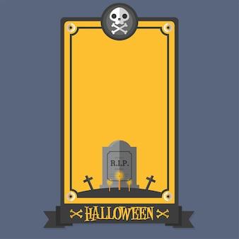 Halloween poster gravestone