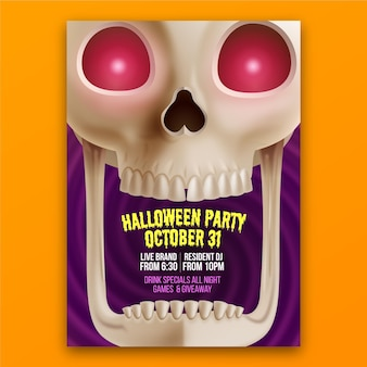 Halloween poster template concept