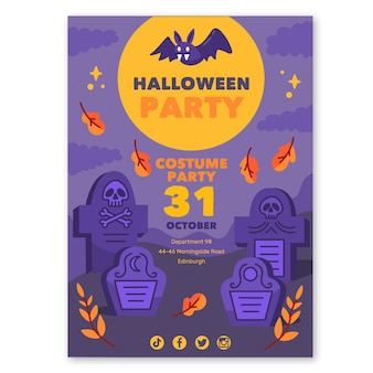 Halloween poster template style