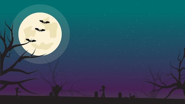 Halloween poster template.