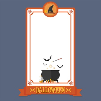 Halloween poster witch magic