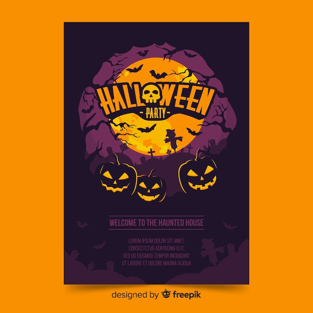 graphic relating to Free Printable Halloween Flyer Templates referred to as Halloween Flyer Vectors, Pictures and PSD documents Totally free Obtain