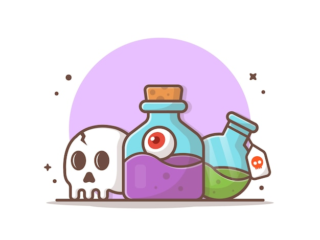 Halloween potion vector icon illustration