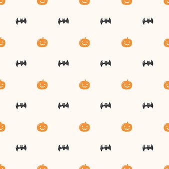Halloween pumkin seamless pattern