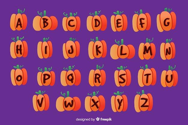 Halloween pumpkin alphabet