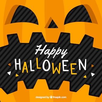 Halloween pumpkin background in flat design