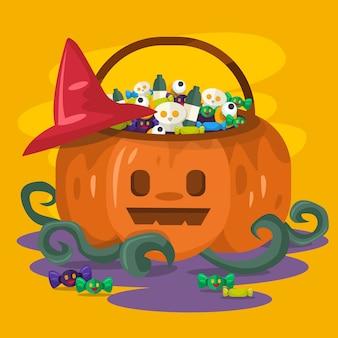 Halloween pumpkin bucket