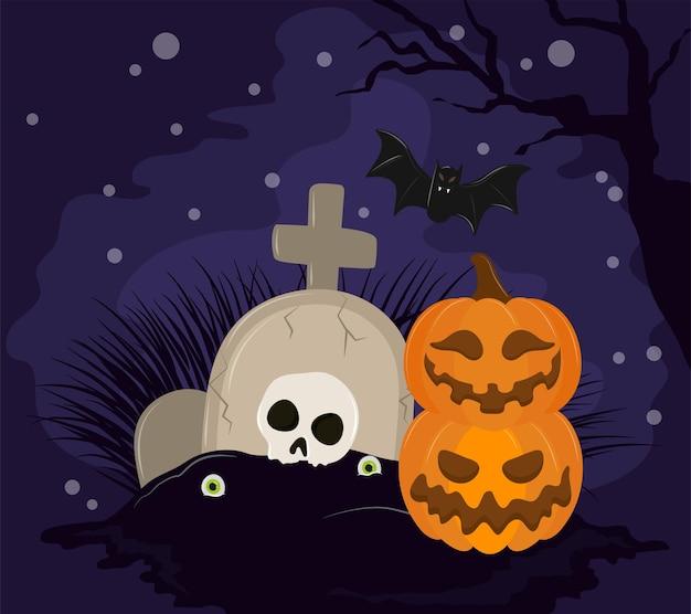 Кладбище тыкв на хэллоуин