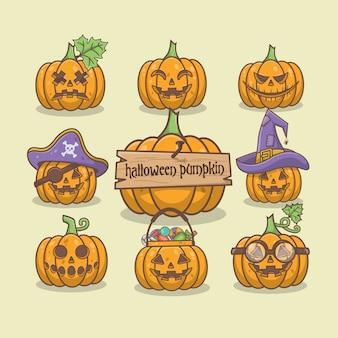 Хэллоуин тыква коллекция