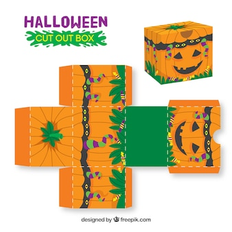 Halloween pumpkin cutout box