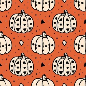 Хэллоуин тыква элементы бесшовные модели