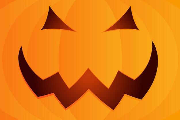 Предпосылка лица тыквы хеллоуина. векторные иллюстрации шаржа хэллоуина.