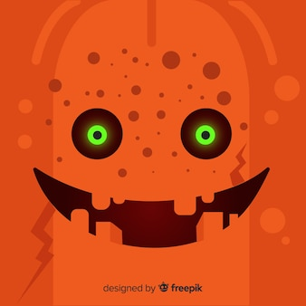 Halloween pumpkin face background
