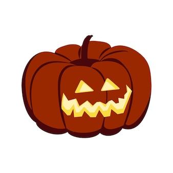 目を輝かせる野菜で作られたハロウィーンのカボチャのお祭り秋10月の装飾ランタン