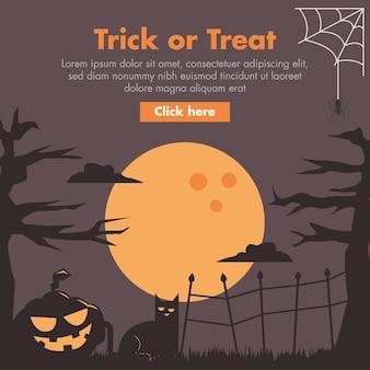 Halloween pumpkin flat design illustration