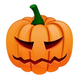 Halloween pumpkin icon, cartoon style
