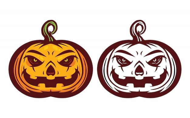 Halloween pumpkin mascot