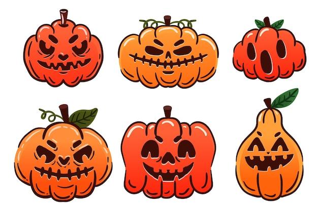 Хэллоуин тыква пакет рисованной дизайн