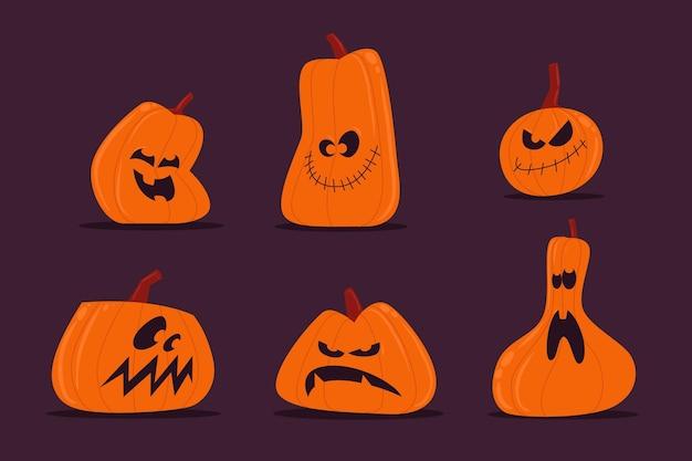 Хэллоуин тыква пакет рисованной стиль