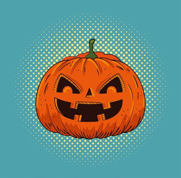 Halloween pumpkin pop art style