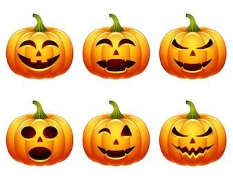 halloween pumpkin set collection