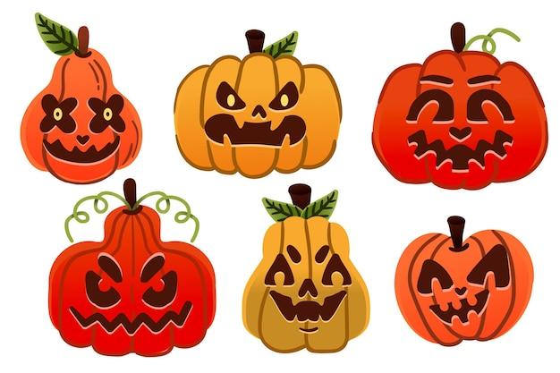 Хэллоуин тыква набор рисованной дизайн