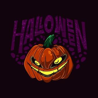 Halloween pumpkin vector illustration