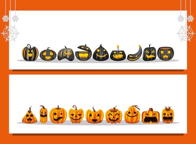 Halloween pumpkins banner