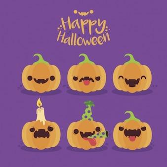 Zucche raccolta di halloween