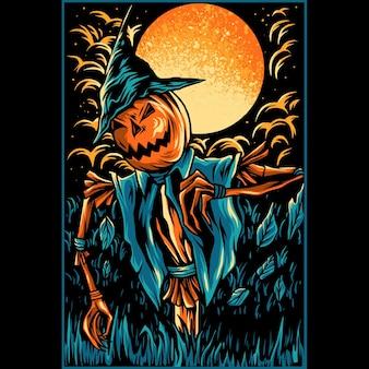 Halloween pumpkins illustration