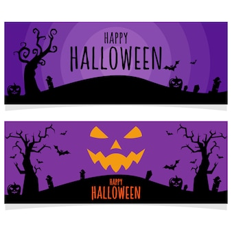 Halloween purple banner