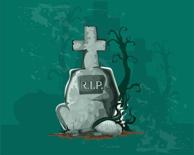 Halloween realistic poster